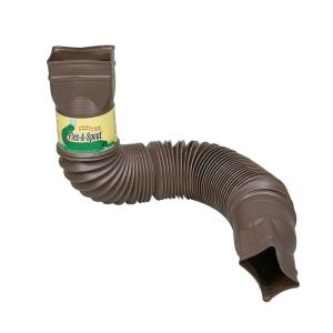 Amerimax Home Products Brown Flex-a-Spout Downspout Extension