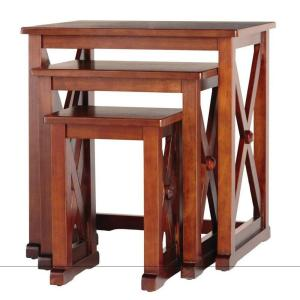 Home Decorators Collection Brexley Chestnut Nesting Tables (Set of 3)