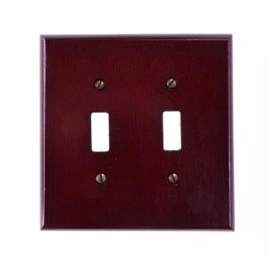 Amerelle Rosewood 2 Toggle Wall Plate