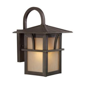 Sea Gull Lighting Medford Lakes 1-Light Statuary Bronze Outdoor Wall Fixture by Sea Gull Lighting