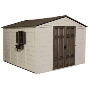 Popular 10x10 metal shed lowes for 10x10 shop door