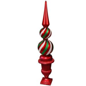 Sterling Inc. 62 in. Standing Finial in Red and Green