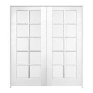 prehung interior french doors home depot jeld wen 48 in x 80 in pine unfinished 10 lite wood 27394