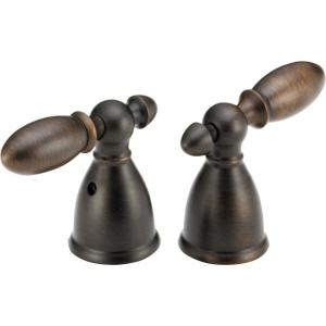 Delta Pair of Victorian Lever Handles in Venetian Bronze for 2-Handle Faucets from Faucet Handles