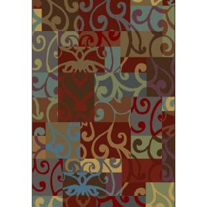 Shaw Living Modern Tapestry Multi 3 ft. 10 x 5 ft. 6 Area Rug