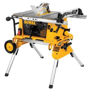 Dewalt 10 in 15 amp jobsite table saw with rolling stand for 10 dewalt table saw