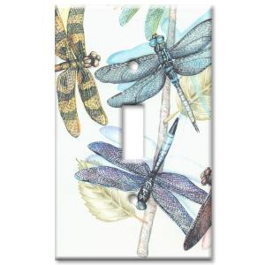 Art Plates Dragonflies - Single Toggle Wall Plate