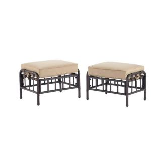Martha Stewart Living Bryant Cove Patio Ottoman 2 Pack Dybc O The Home Depot