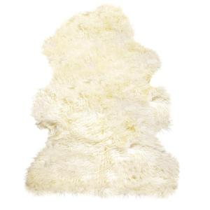New Zealand Natural 2 ft. x 3 ft. Curly Single Sheepskin Area Rug