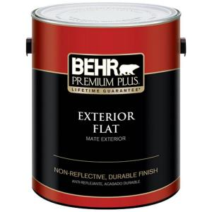 BEHR Premium Plus 1-Gal. Medium Base Flat Exterior Paint