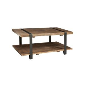 Alaterre Furniture Modesto Rustic Natural Storage Coffee Table by