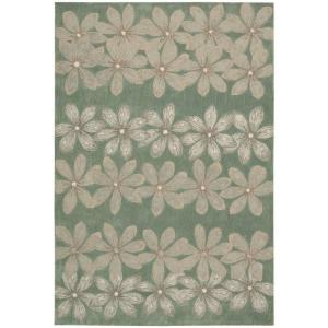 Nourison Overstock Spring Days Sage 8 ft. x 10 ft. 6 inch Area Rug by Nourison Overstock