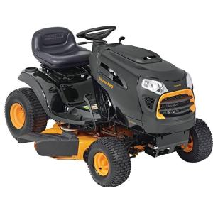 Click here to buy Poulan PRO 42 inch 19 HP Briggs & Stratton Automatic Gas Front-Engine Riding Mower.