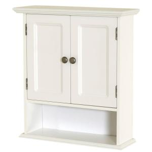 Glacier Bay 23 In W X 28 In H X 6 1 2 In D Bathroom Storage Wall Cabinet With Shelf In White Ttdm Wh The Home Depot