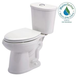 Gerber Maxwell 2-piece 1.28 GPF Dual Flush Elongated Toilet in White by