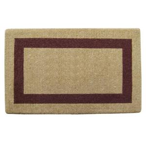 Nedia Home Single Picture Frame Brown 22 inch x 36 inch HeavyDuty Coir Door Mat