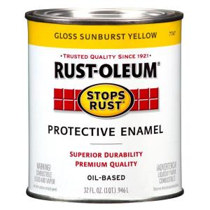 Rust-Oleum Stops Rust 1-Qt. Sunburst Yellow Gloss Protective Enamel Paint