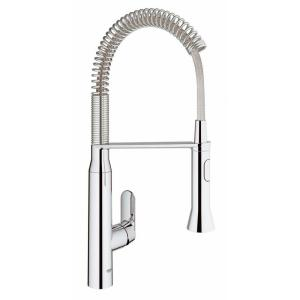 GROHE K7 Medium Semi-Pro Single-Handle Standard Kitchen Faucet in Chrome by GROHE