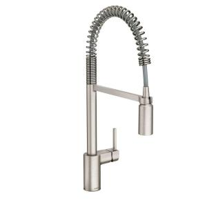 Moen Align Single-Handle Pull-Down Sprayer Kitchen Faucet with Power Clean in... by MOEN