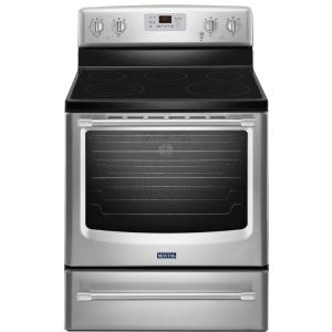 Maytag AquaLift 6.2 cu. ft. Electric Range with Self-Cleaning Convection Oven in Stainless Steel by