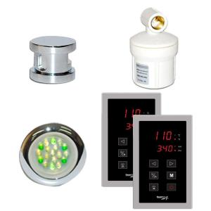 SteamSpa Royal Programmable Steam Bath Generator Touch Pad Control Kit in Chrome by