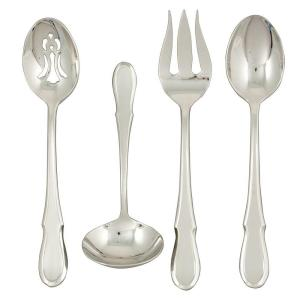 Click here to buy Ginkgo Celine Platinum 4-Piece Hostess Set by Ginkgo.