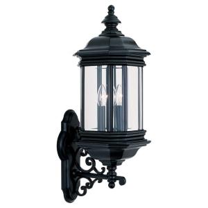 Sea Gull Lighting Hill Gate 3-Light Outdoor Black Wall Mount Fixture by Sea Gull Lighting