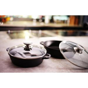 Berndes Vario Click 10 inch /2.5 Qt. Induction Round Saute Casserole with Lid Black by