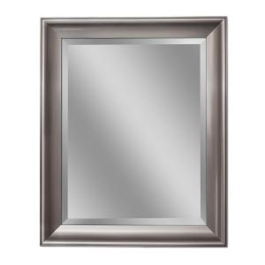 Deco Mirror 30 inch W x 42 inch H Transitional Wall Mirror in Brush Nickel by Deco Mirror