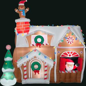 Gemmy in l x in w x 106 3 in h inflatable for Home depot christmas lawn decorations