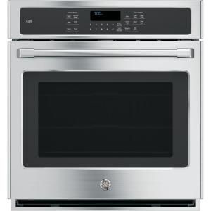 single electric smart wall oven with convection and wifi in
