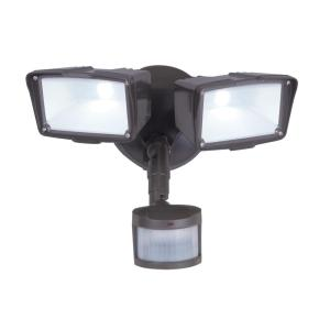 All-Pro 270 Degree Motion Bronze Activated LED Outdoor Security Floodlight by
