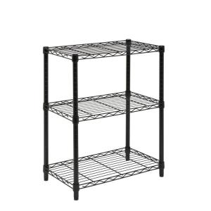 Honey-Can-Do 3-Shelf 24 in. W x 30 in. H x 14 in. D Steel Commercial Shelving Unit