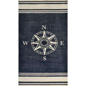 Dynamic Rugs Nautical Navy 2 ft. 3 inch x 4 ft. 6 inch Indoor Accent Rug by