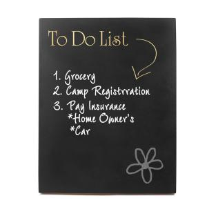 14 inch x 11 inch To Do List Chalkboard Wooden Wall Art by