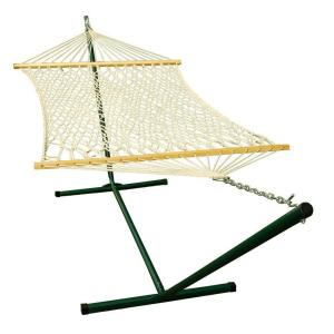 Algoma 11 ft. Rope Hammock and 12 ft. Steel Stand Combination by
