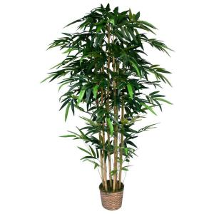 Laura Ashley 6 ft. Tall High End Realistic Silk Bamboo Tree with Wicker Basket... by Laura Ashley