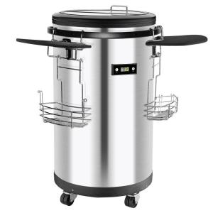 Igloo 60 Can Single Zone Stainless Steel Party Cooler