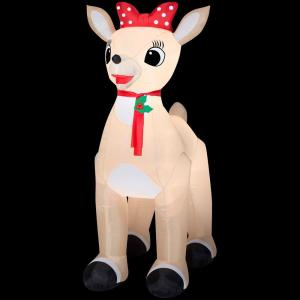 Rudolph 53.15 in. D x 84.65 in. W x 107.48 in. H Inflatable Standing Clarice