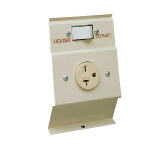 Cadet F Series Almond Baseboard Load-Transfer 240 Volt Heater to Outlet Switch... by Cadet