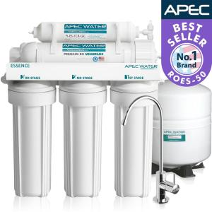 APEC Water Systems Essence Premium Quality 5-Stage Under-Sink Reverse Osmosis Drinking Water Filter System by