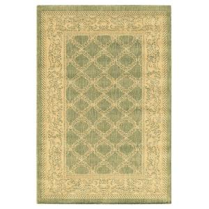 Home Decorators Collection Entwined Natural and Green 8 ft. 6 in. x 13 ft. Area Rug