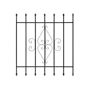 Unique Home Designs Su Casa 36 in. x 42 in. Black 7-Bar Window Guard