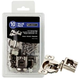 Liberty 35 mm 105-Degree 1-1/4 inch Overlay Hinge (10-Pack) by Liberty
