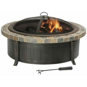 Savannah Slate Top Fire Pit