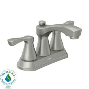 MOEN Belmont 4 in. 2-Handle Bathroom Faucet in Spot Resist Brushed Nickel