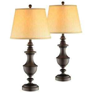 Hampton Bay 28.50 in. Bronze Table Lamps (2-Pack)