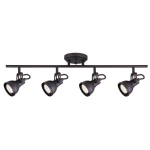 CANARM Polo 29 inch 4-Light Oil Rubbed Bronze Track Lighting Fixture by CANARM