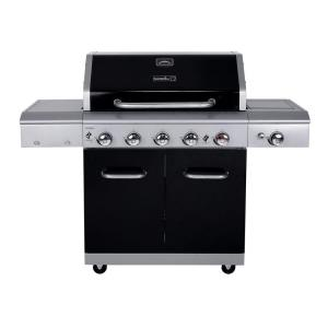 Click here to buy Nexgrill Deluxe 5-Burner Propane Gas Grill in Black with Side Burner and Built-in Searing Zone by Nexgrill.
