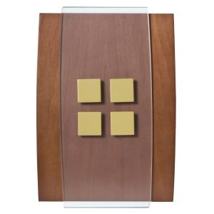 Honeywell Decor Series Wireless Door Bell Wood with Antique Brass Accent Push...